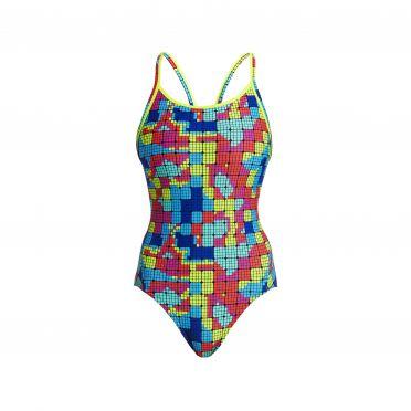 Funkita Heat map diamond back bathing suit women