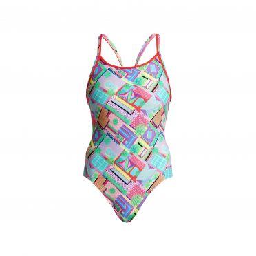Funkita Street view diamond back bathing suit women