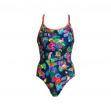 Funkita Tropic tag diamond back bathing suit girls