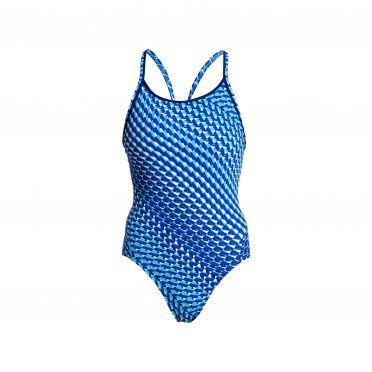 Funkita Vapour scale diamond back bathing suit women