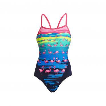 Funkita Flamingo flood single strap bathing suit women