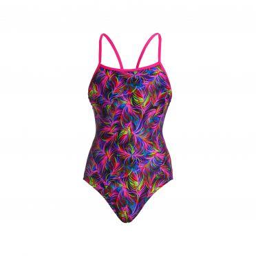Funkita Shaded palms single strap bathing suit women