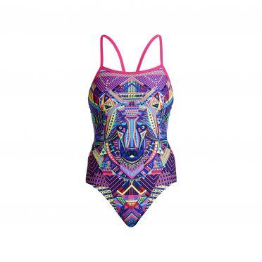Funkita Wolf pack single strap bathing suit women