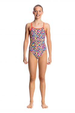 Funkita Flash bomb single strap bathing suit girls