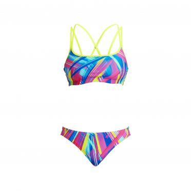 Funkita Frickin laser Criss cross sports bikini set women