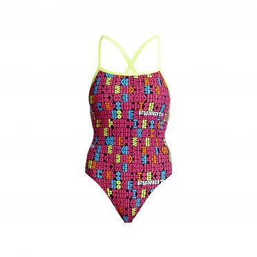Funkita Code breaker strapped in bathing suit women