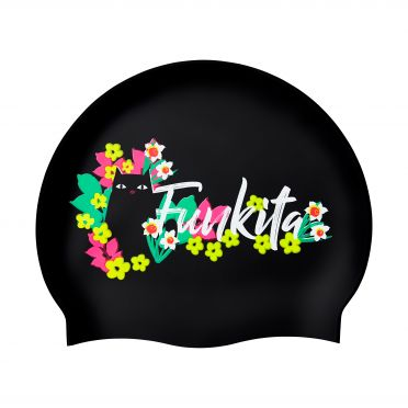 Funkita Silicone swimming cap Scaredy cat