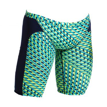 Funky Trunks Green gator Training jammer swimming men