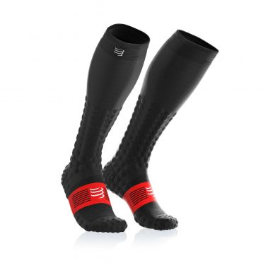 Compressport Full socks detox recovery compression socks black
