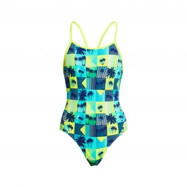 Funkita Pop Tropo diamond back bathing suit girls