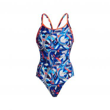 Funkita Futurismo diamond back bathing suit women