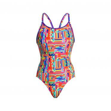 Funkita Top Spot diamond back bathing suit women