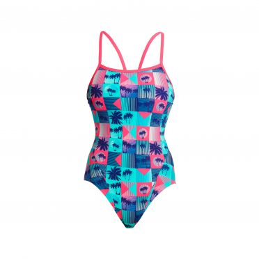 Funkita Club Tropicana single strap bathing suit women