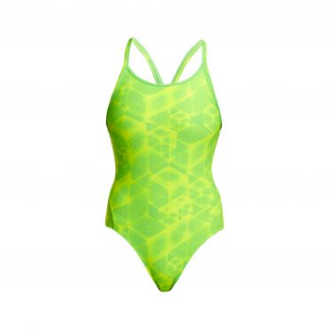 Funkita Neon Orbiter diamond back bathing suit women