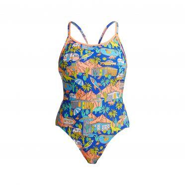 Funkita Wacky West diamond back bathing suit women