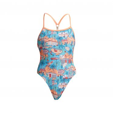 Funkita Road Tripper twisted bathing suit women
