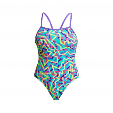 Funkita Mint Strips single strap bathing suit women