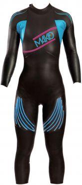 Mako Genesis full sleeve wetsuit black/blue women