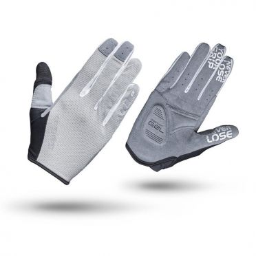GripGrab Women's shark cycling gloves grey