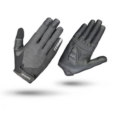 GripGrab Women's progel full finger cycling gloves black