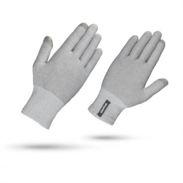 GripGrab Merino liner cycling gloves gray