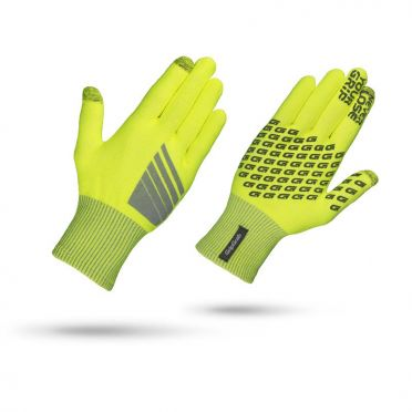 GripGrab Primavera hi-vis cycling gloves yellow
