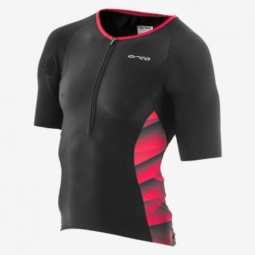 Orca 226 Kompress tri jersey short sleeve black/red men