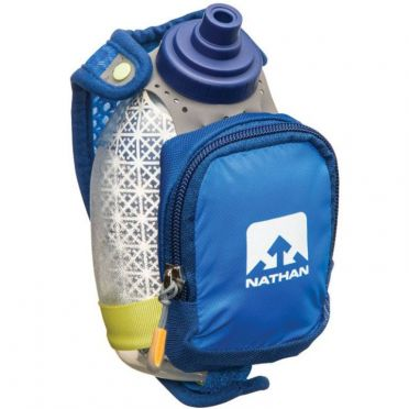 Nathan Quickshot plus insulated hand bottle blue
