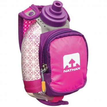 Nathan Quickshot plus insulated hand bottle pink