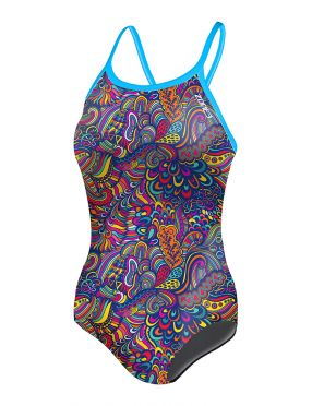 Zone3 High-Jazz Bound back swimsuit purple women