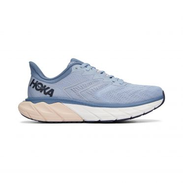 Hoka One One Arahi 5 wide running shoes blue/pink woman