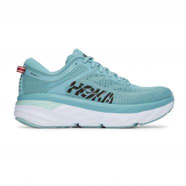 Hoka One One Bondi 7 running shoes blue women