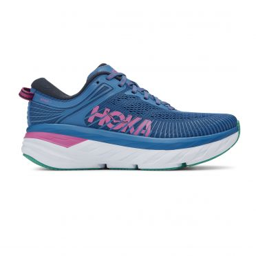Hoka One One Bondi 7 running shoes blue/pink women