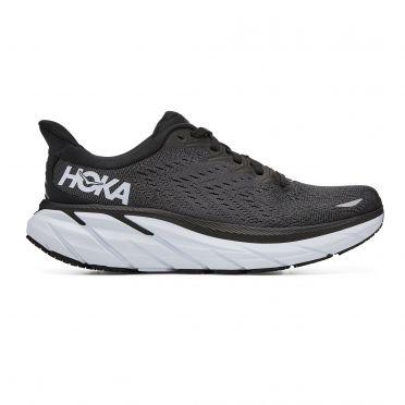 Hoka One One Clifton 8 running shoes black/white women