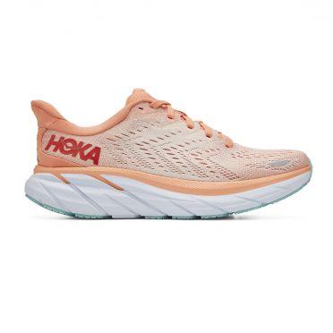Hoka One One Clifton 8 running shoes pink women
