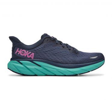 Hoka One One Clifton 8 running shoes dark blue women