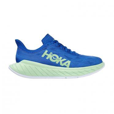 Hoka One One Carbon X 2 running shoes blue/green men