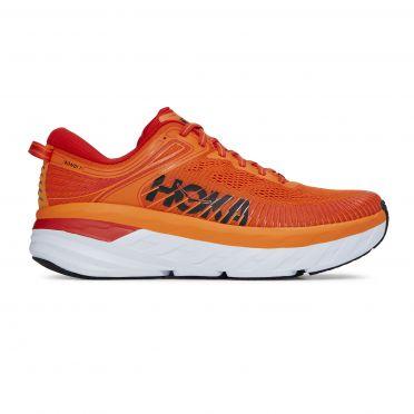 Hoka One One Bondi 7 running shoes orange men