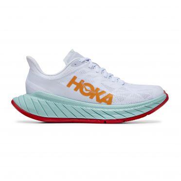 Hoka One One Carbon X 2 running shoes white/orange men