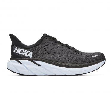 Hoka One One Clifton 8 running shoes black-white men