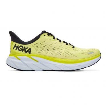Hoka One One Clifton 8 running shoes yellow men
