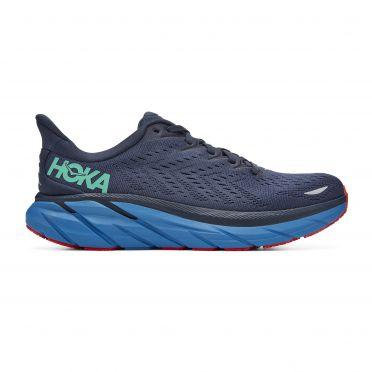 Hoka One One Clifton 8 running shoes blue men