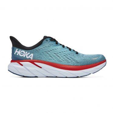 Hoka One One Clifton 8 running shoes light blue men