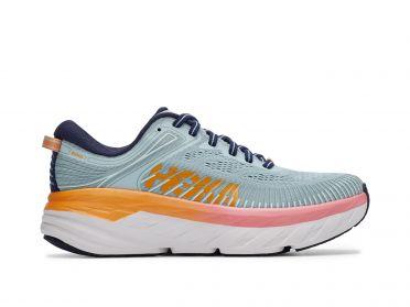 Hoka One One Bondi 7 wide running shoes mint/orange men