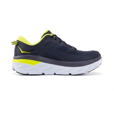 Hoka One One Bondi 7 running shoes gray/yellow men