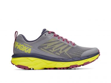 Hoka One One Challenger ATR 5 running shoes dark grey/yellow women