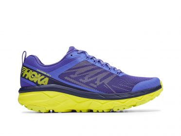 Hoka One One Challenger ATR 5 running shoes blue/yellow men
