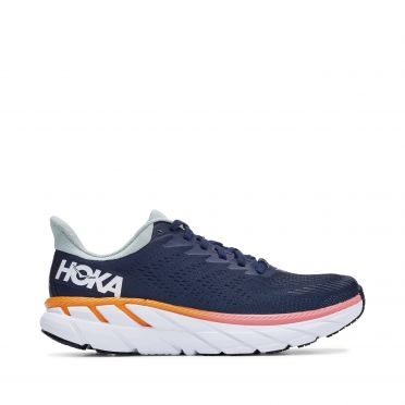 Hoka One One Clifton 7 running shoes blue woman
