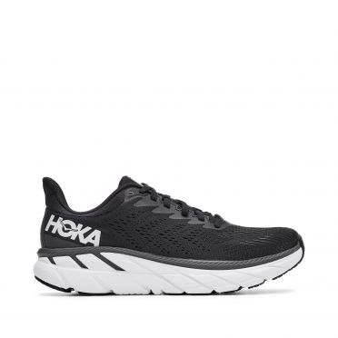 Hoka One One Clifton 7 running shoes black/white woman