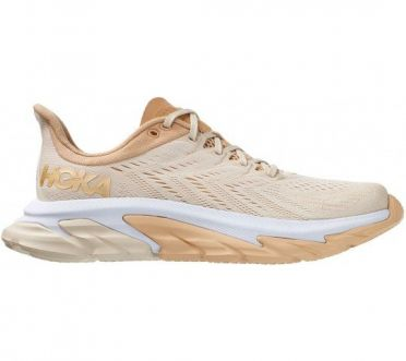 Hoka One One Clifton 7 Edge running shoes beige woman
